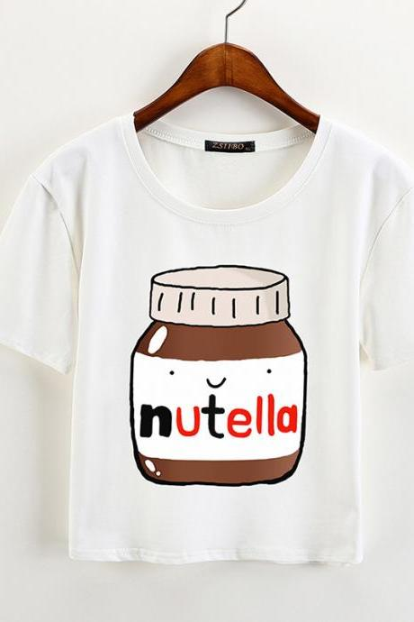 Kawaii Clothing Ropa T-Shirt Camiseta Nutella Milk Harajuku Korean Japanese Nocilla WH014