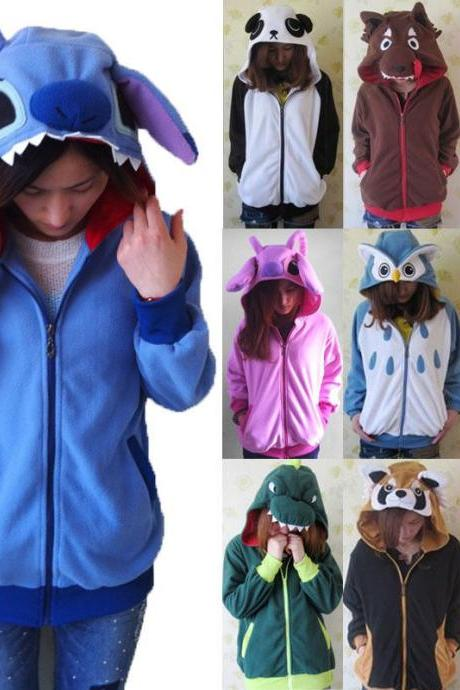 Kawaii Clothing Cute Jacket Hoodie Ropa Pokemon Go Stitch Pikachu Rilakkuma Ears